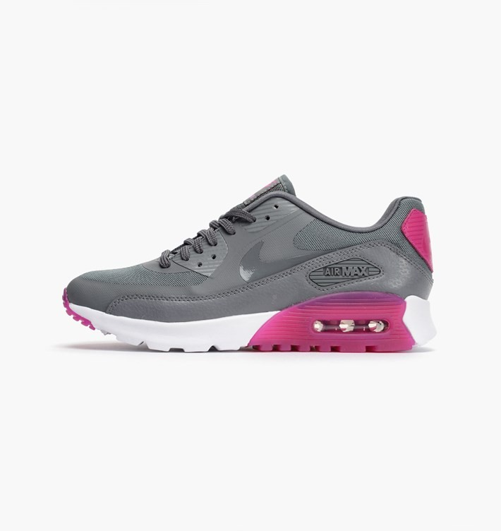 Womens Nike Air Max 90 Ultra Essential Cool Grey/Fuchsia Flash/Fuchsia Glow/Cool Grey 724981-002 Trainer