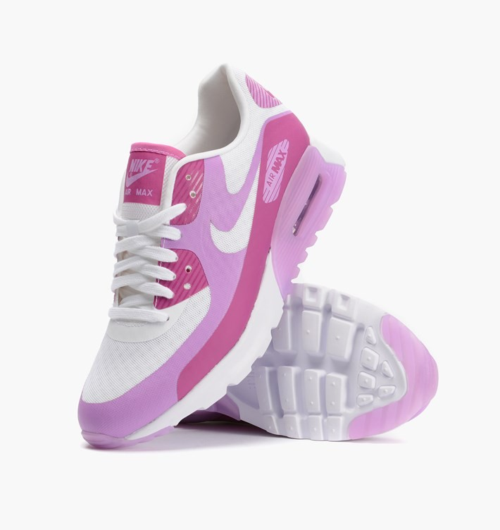 9e001dfa73 ... Womens Nike Air Max 90 Ultra BR (Breathe) White/Fuchsia Flash/Fuchsia  ...
