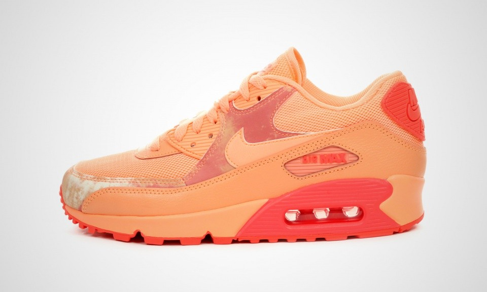 check out 0db66 84d22 Womens Nike Air Max 90 Print Sunset Glow Sunset Glow-Hot Lava-White 724980