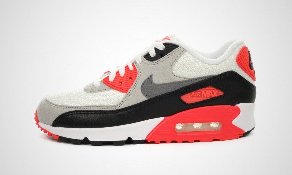 Cheap Real Womens Nike Air Max 90 OG Infrared WhiteCool