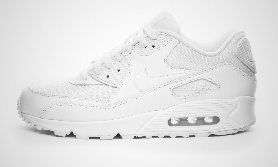 be07a8a783f Very Cheap Mens Nike Air Max 90 Essential White White 537384-111 ...