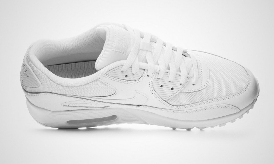 b327aa18825c Very Cheap Mens Nike Air Max 90 Essential White White 537384-111 ...