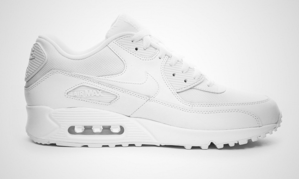 Cheap Womens Nike Air Max 90 Essential White White Shoes