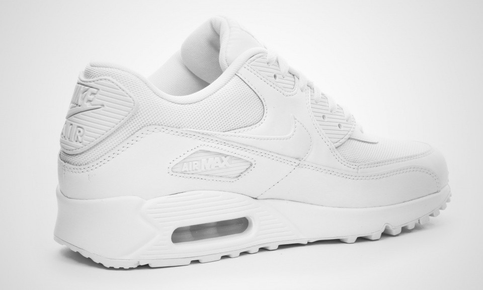 2ac615172e964 Cheap Womens Nike Air Max 90 Essential White White Shoes Online ...