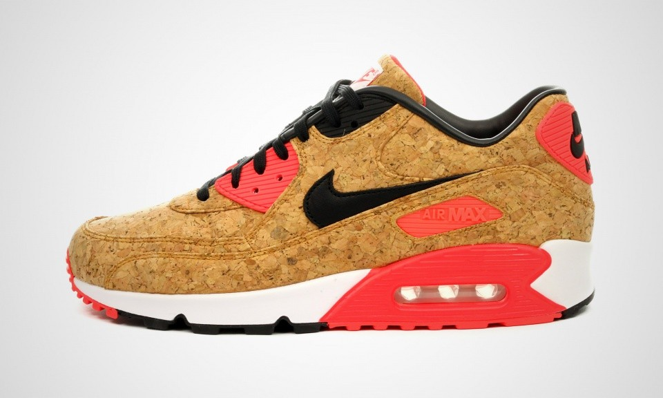 Mens Nike Air Max 90 Anniversary Cork Infrared Bronze/Black-Infrared-White 725235-706 Casual Shoes