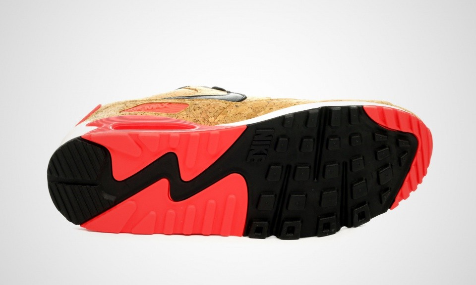 ... Mens Nike Air Max 90 Anniversary Cork Infrared  Bronze/Black-Infrared-White 725235 ...