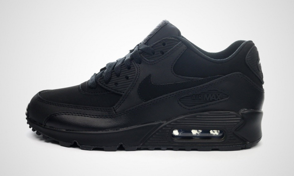 Nike Air Max 90 GS Womens Black Black 307793-091 Trainer