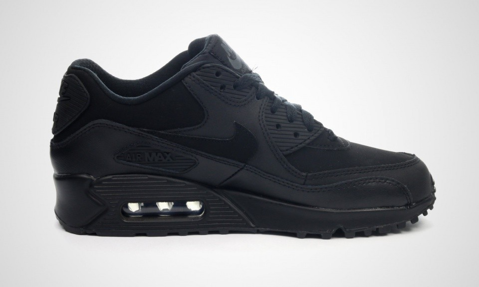 ae9d48f3e6 Really Cheap Nike Air Max 90 GS Womens Black Black 307793-091 ...