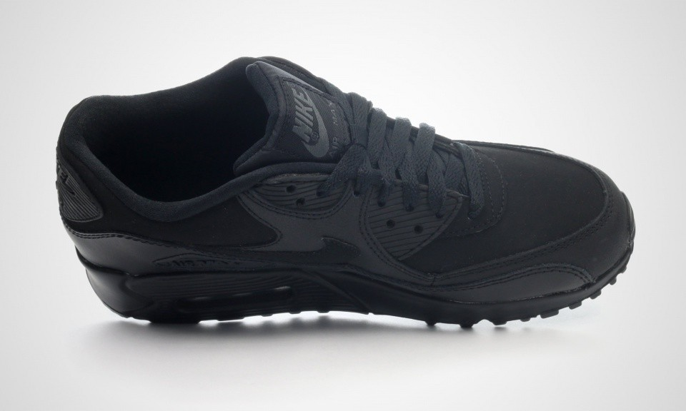 Nike Air Max 90 GS Black Black 307793-091 Casual Shoes