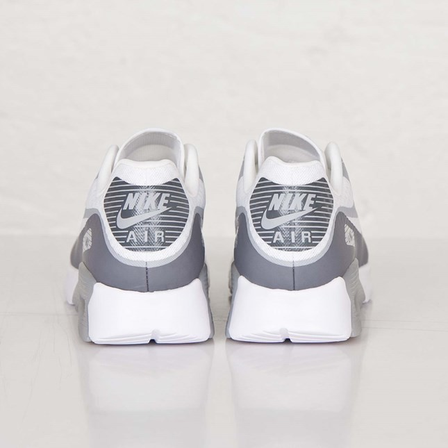 Womens Nike Air Max 90 Ultra BR (Breathe) White/Cool Grey-Wolf Grey 725061-101 Shoes