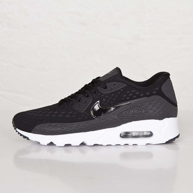 Mens Nike Air Max 90 Ultra BR (BREEZE) Black/Black-Dark Grey-Black 725222-001 Casual Shoes