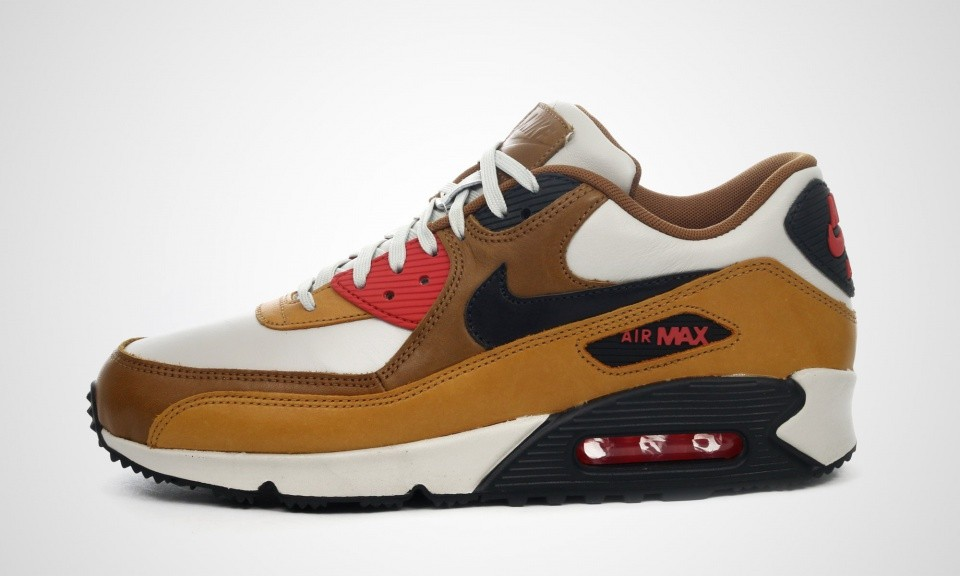 Mens Nike Air Max 90 QS Escape Pack Light Bone/Black Pine/Ale Brown 718303-002 Sneakers