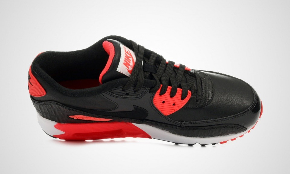 Mens Nike Air Max 90 Anniversary Black/Black-Infrared-White 725235-006 Casual Shoes