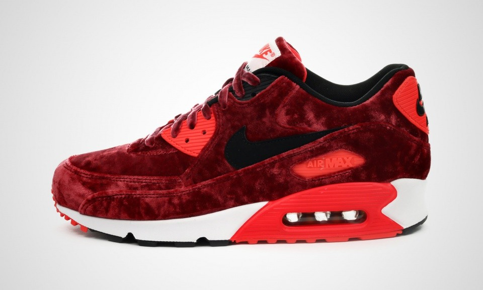 Mens Nike Air Max 90 Anniversary Gym Red/Black-Infrared-Metallic Gold 725235-600 Trainer