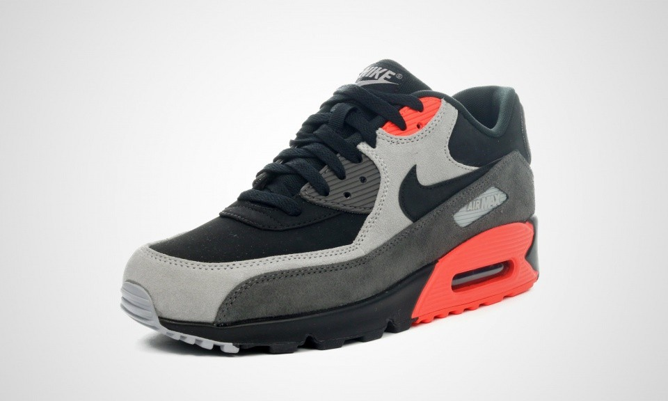 7bc2220cf74d ... Mens Nike Air Max 90 LTR PRM Black Black Medium Ash Total Crimson ...
