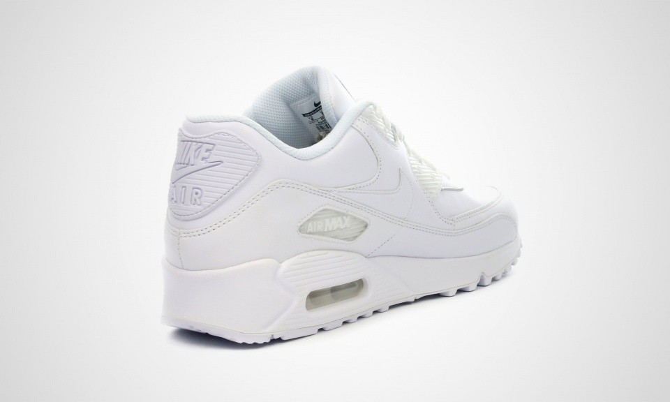 Mens Nike Air Max 90 Leather White 302519-113 Casual Shoes