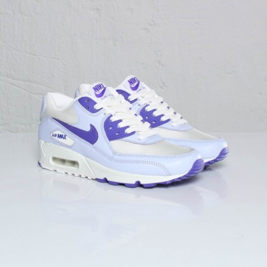 Womens Nike Air Max 90 Palest Purple / Pure Purple / Sail 325213-502 Shoes