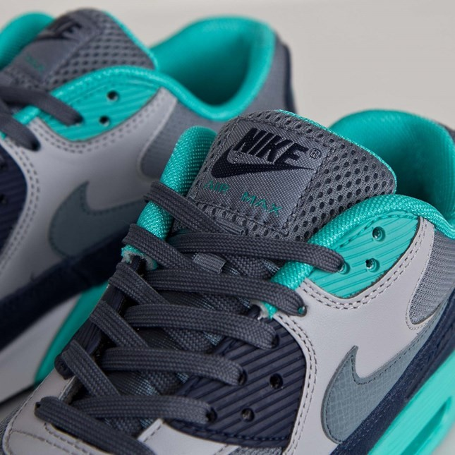 Mens Nike Air Max 90 Essential Blue Graphite/Blue Graphite-Wolf Grey 537384-408 Trainer