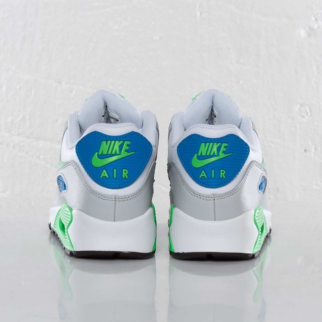 Nike Air Max 90 GS White/Poison Green/Photo Blue/Natural Grey 307793-139 Casual Shoes