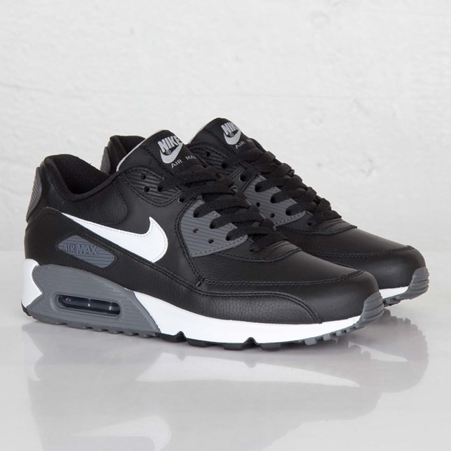 Cheap Real Mens Nike Air Max 90 Essential BlackWhiteBlack
