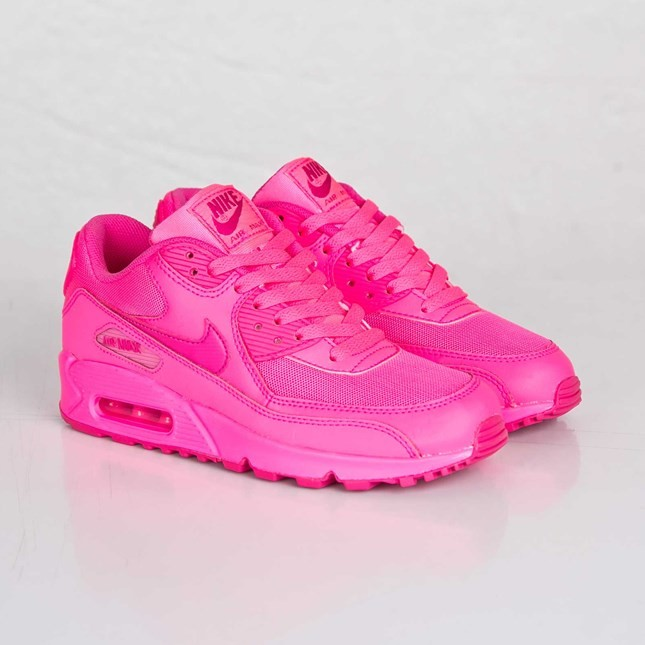 Nike Air Max 90 2007 GS Womens Hyper Pink/Vivid Pink 345017-601 Casual Shoes