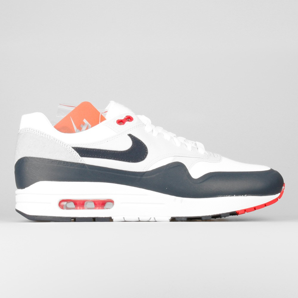 check out ec7eb 84a45 Mens Nike Air Max 1 V SP Patch Paris OG White Obsidian-University Red