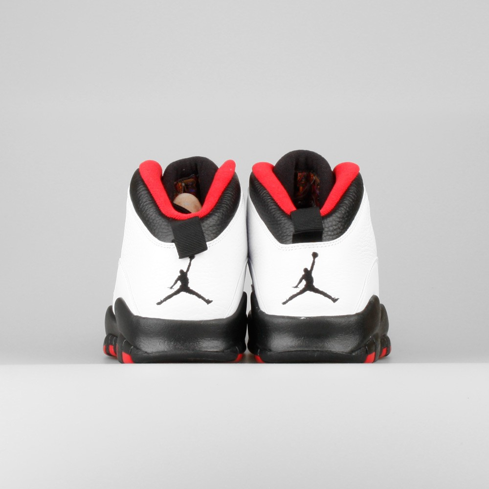 Mens Nike Air Jordan Retro 10 Chicago 45 Double Nickel White/Black-True Red 310805-102 Trainer