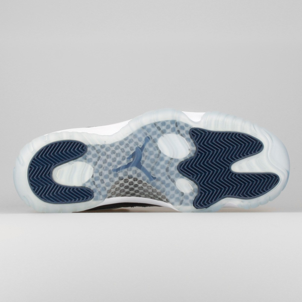 Mens Nike Air Jordan 11 Retro Low Georgetown Grey Mist/White-Midnight Navy 528895-007 Shoe