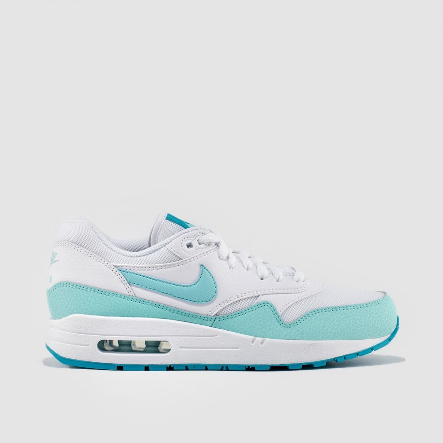 Womens Nike Air Max 1 Essential White/Light Retro/Artisan Teal 599820-113 Casual Shoes