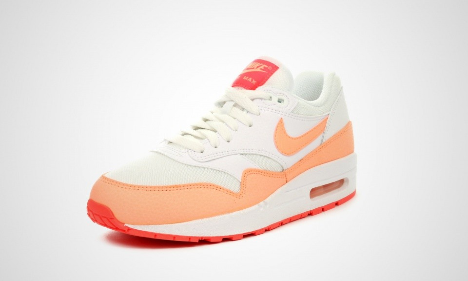 buy popular 4c2e1 34610 ... Womens Nike Air Max 1 Essential White Hot Lava Sunset Glow 599820-114  ...