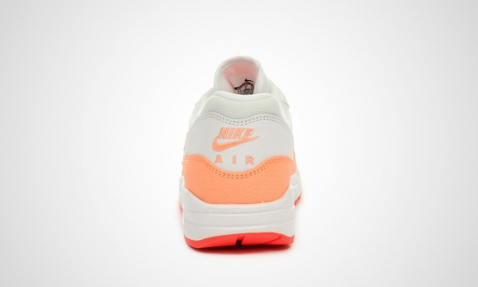 Womens Nike Air Max 1 Essential White/Hot Lava/Sunset Glow 599820-114 Shoe