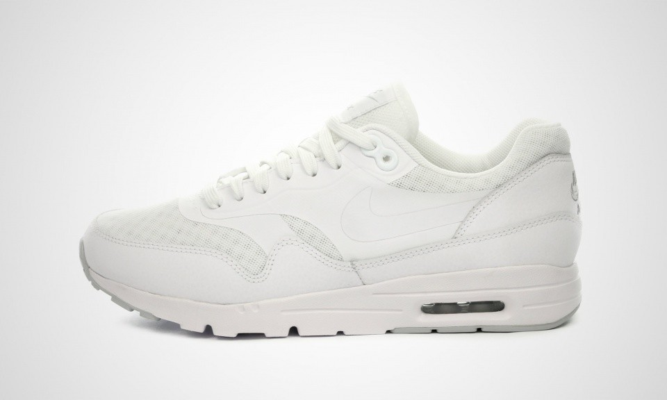 cf443b1a0c33 Womens Nike Air Max 1 Ultra Essential White White-Metallic Silver 704993-101