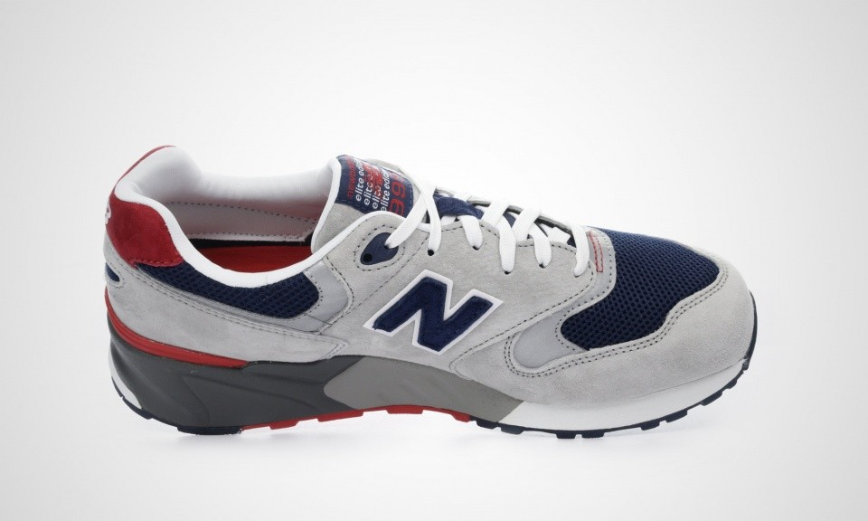 Men's New Balance 999 ML999AE Elite Edition Trainers Grey / Navy / Red 450691-60-12