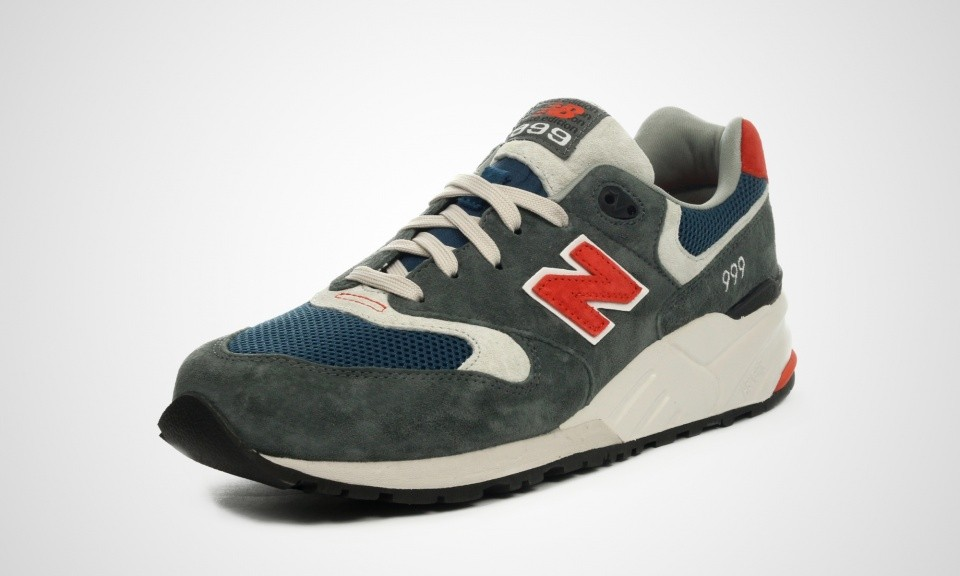 New Balance 999 ML999AD Elite Edition Mens Walking Shoes Slate Grey/Navy Blue/Orange 450691-60-122