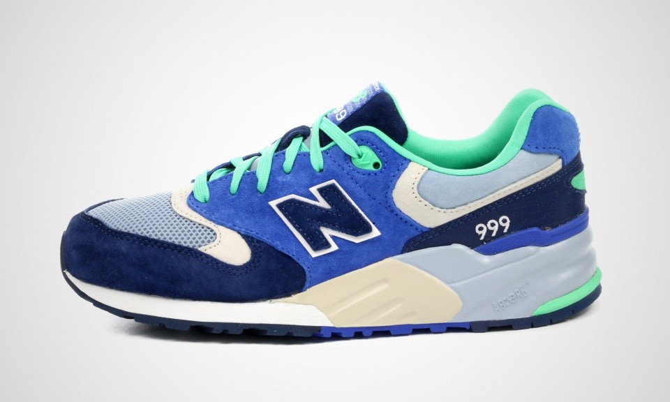 New Balance 999 ML999OBB Elite Edition Urban Exploration Shoes For Women Blue/Green/Grey 417691-605