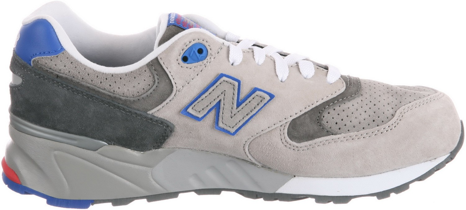 Men's New Balance 999 ML999BSG Barbershop Running Sneaker Grey/Red / Blue