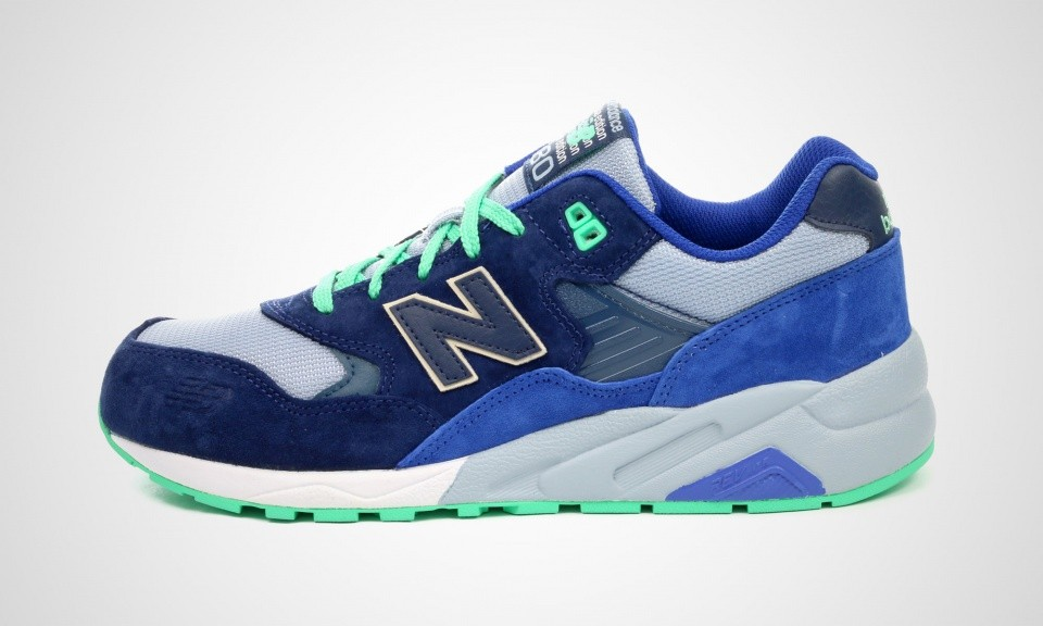 New Balance 580 MRT580OV Elite Edition Running Shoes For Men Blue Green Grey 427191-60
