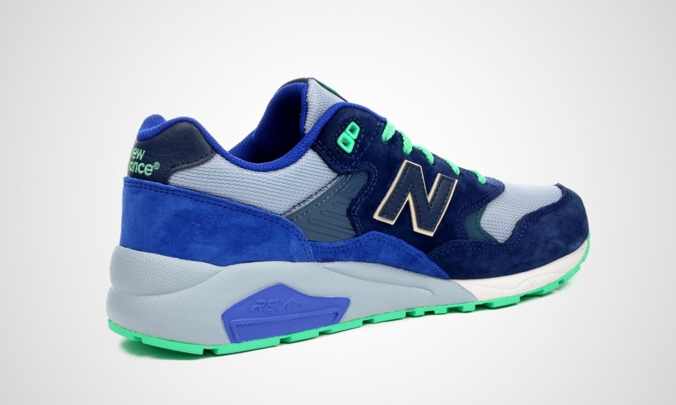 New Balance 580 MRT580OV Elite Edition Womens Shoes Blue Green Grey 427191-60