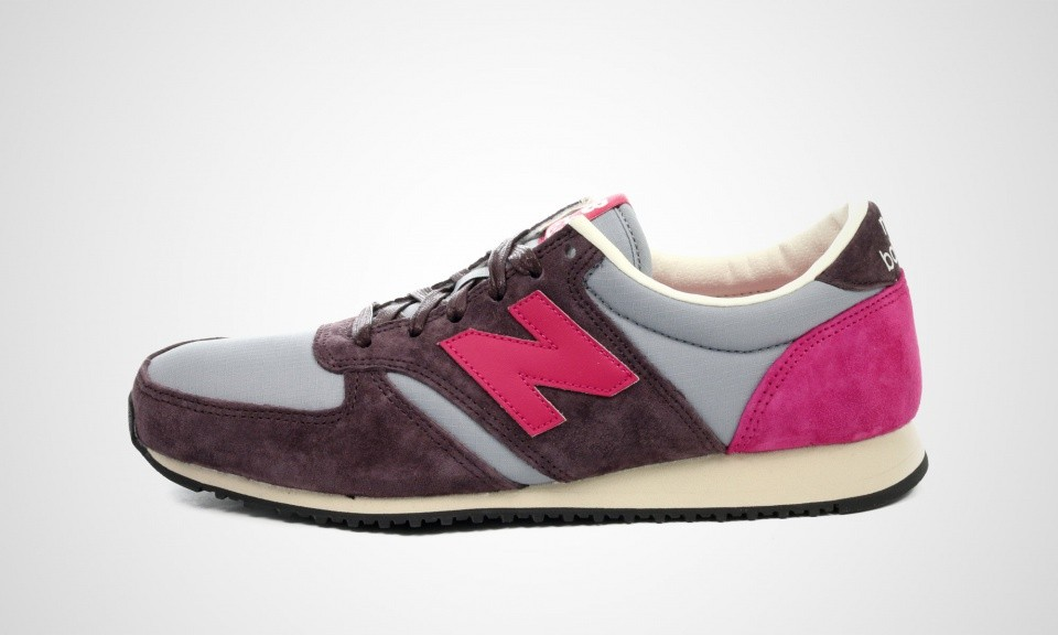 Unisex New Balance 420 U420PRPP Plum Running shoe Brown Grey Fuchsia Off White 418001-608