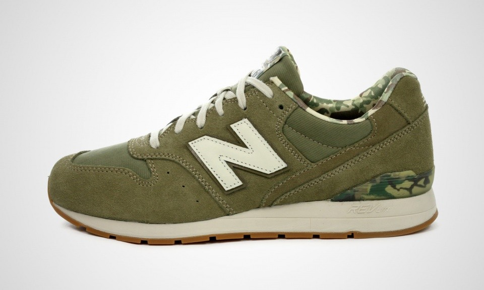 Mens New Balance 996 MRL996FK Camo Print Shoes Green Off White Gum 417731-6012