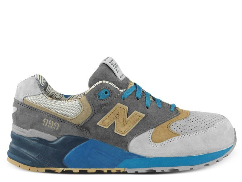 New Balance 999 x Concepts Seal ML999 COP Mens Sneakers Grey Beige Blue
