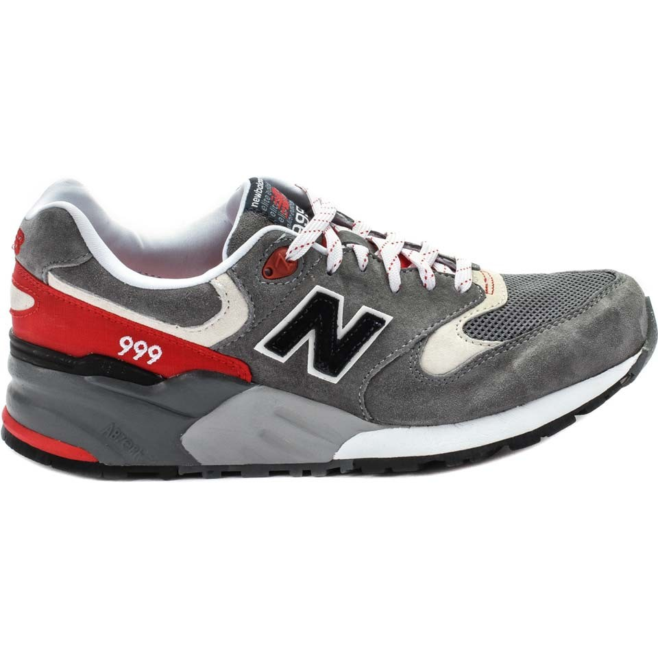 Men's New Balance 999 ML999 CRA Elite Edition Walking Shoes Grey/Red/White Black N Logo