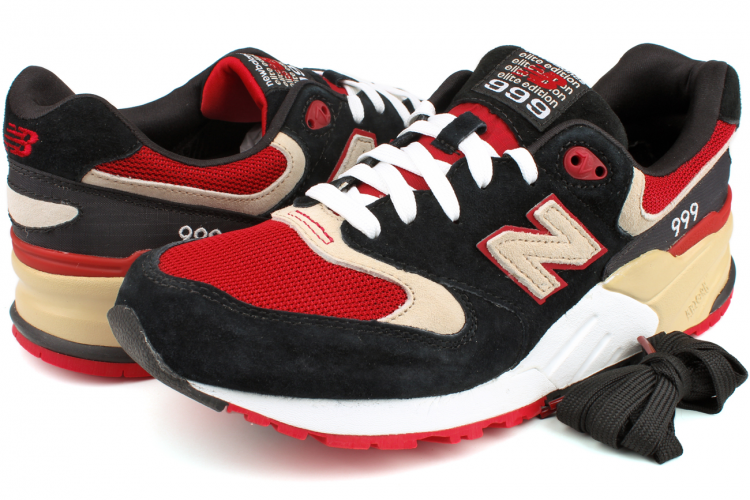 Men's New Balance 999 ML999PG Elite Edition Shoes Black Red Light Grey White