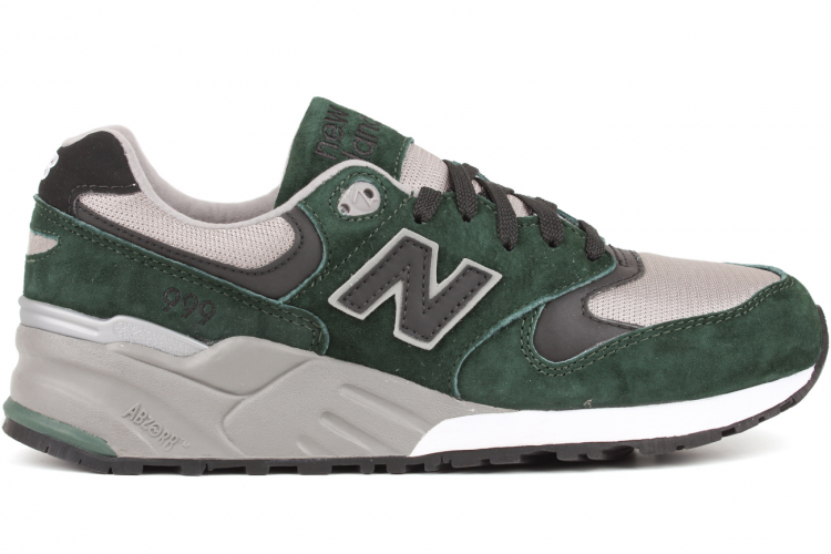 New Balance 999 ML999HG Suede / Mesh Sneakers For Men Green Grey