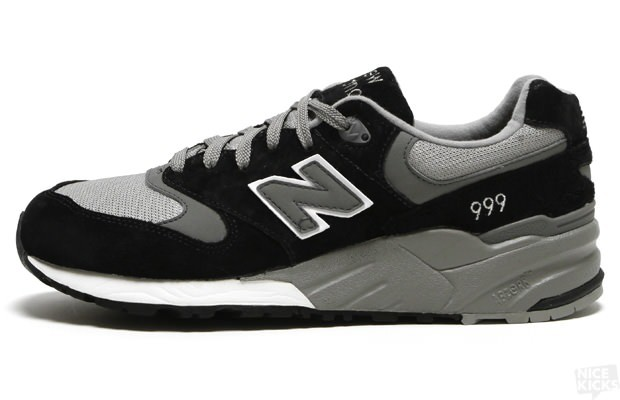 New Balance 999 MRL999BK Suede Mesh Shoes For Men Black Grey White