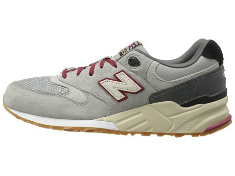 Men's New Balance 999 Elite Edition Running Sneaker Grey Burgundy Red Black Cream