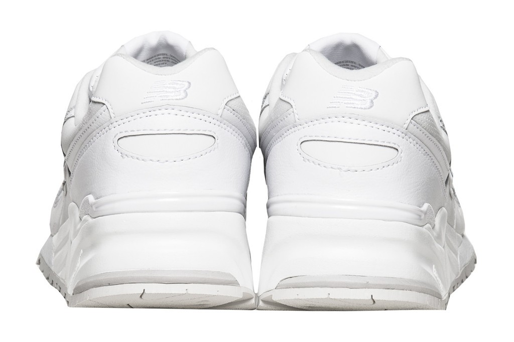 Women New Balance 999 White Out Instinct Leather Sneakers White