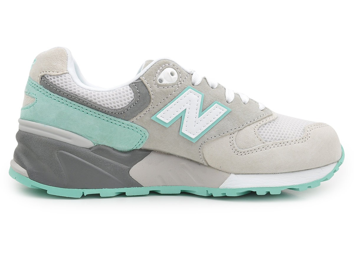 New Balance 999 Cherry Blossom Mint Walking Shoes For Women Mint Green Grey White