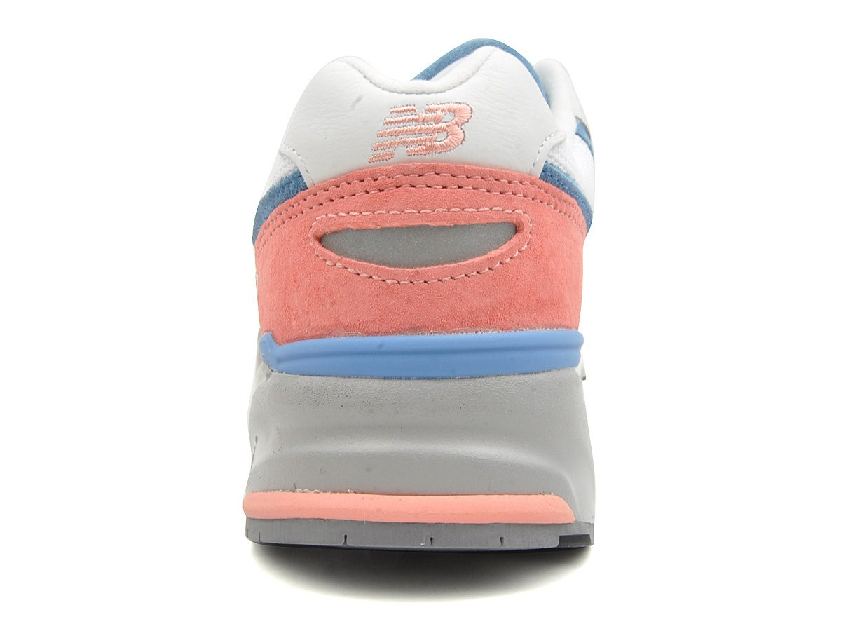 New Balance 999 ml999psw Women Running Sneaker Salmon Pink White Blue Grey