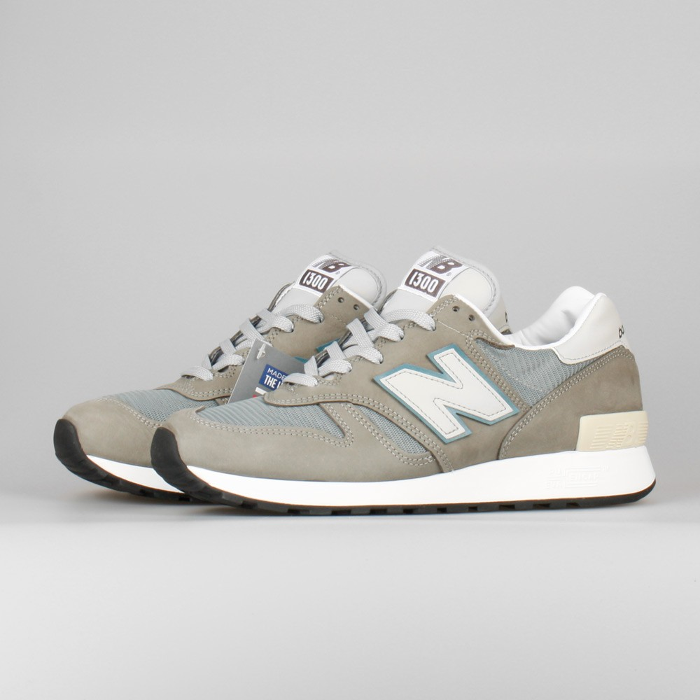 Men's New Balance 1300 M1300JP2 Made In USA Trainers Light Grey Chalk Blue White
